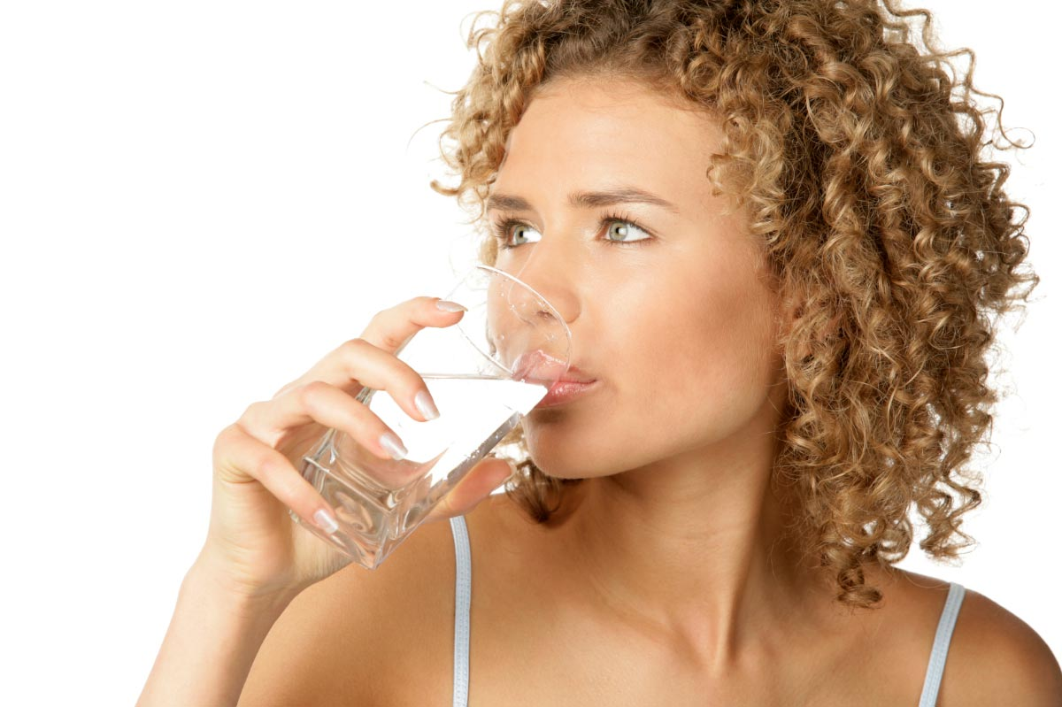 Woman-Drinking-Glass-Of-Water